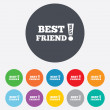 Best friend ever sign icon. Award symbol. — Stock Vector #40965841