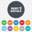 Best sister ever sign icon. Award symbol. — Stock Vector #40966031