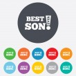 Best son ever sign icon. Award symbol. — Stock Vector #40966065