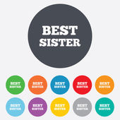 Best sister sign icon. Award symbol. — Stock Vector