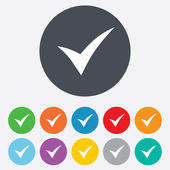 Check sign icon. Yes symbol. — Vettoriale Stock