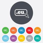 Icono de signo de la Ue de dominio. dominio de nivel superior de internet — Vector de stock