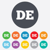 German language sign icon. DE Deutschland. — Stock Vector