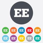 Estonian language sign icon. EE translation. — Stock Vector
