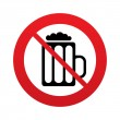 Glass of beer sign icon. No Alcohol drink symbol. — Stock Photo #40975519