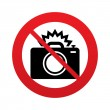 No Photo camera sign icon. Photo flash symbol. — Stock Photo #40977113