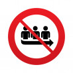 No Queue sign icon. Long turn symbol. — Stock Photo