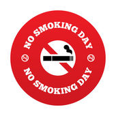 No smoking day sign. Quit smoking day symbol. — Stock Photo