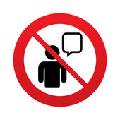 No Chat sign icon. Speech bubble symbol. — Stock Photo