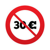 No 30 Euro sign icon. EUR currency symbol. — Stock Photo