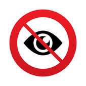 No look. Eye sign icon. Publish content button. — Stock Photo