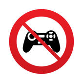 Don`t play. Joystick sign icon. Video game symbol. — Stock Photo