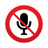 No Microphone icon. Speaker symbol. Live music. — Stock Photo