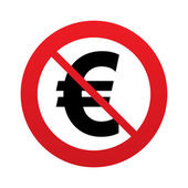 No Euro sign icon. EUR currency symbol. — Stock Photo