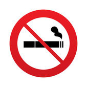 No Smoking sign icon. Cigarette symbol. — Stock Photo