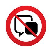 No Chat sign icon. Speech bubbles symbol. — Stock Photo