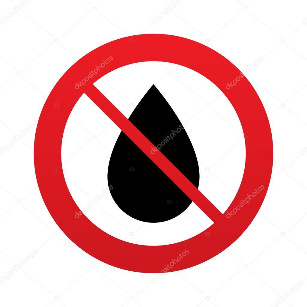 No water drop sign icon tear symbol — foto stock