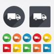 Delivery truck sign icon. Cargo van symbol. — Stock Photo #40998593