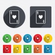 Casino sign icon. Playing card symbol — Stock Photo