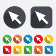 Mouse cursor sign icon. Pointer symbol. — Stock Photo