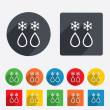 Defrosting sign icon. From ice to water symbol. — Foto de Stock   #40999077