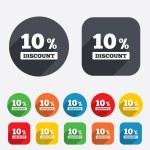 10 percent discount sign icon. Sale symbol. — Stock Photo #40999231