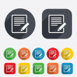 Stock Photo: Edit document sign icon. Edit content button.