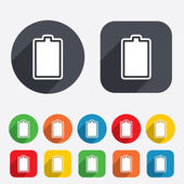 Battery fully charged sign icon. Electricity. — Stock Photo