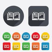 Book sign icon. Open book symbol. — Stock Photo