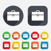 Case sign icon. Briefcase button. — Stock Photo