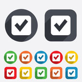 Check mark sign icon. Checkbox button. — Stock Photo