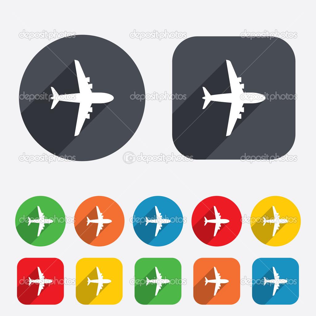 飞机的标志.平面符号.旅行图标.飞行平面标签