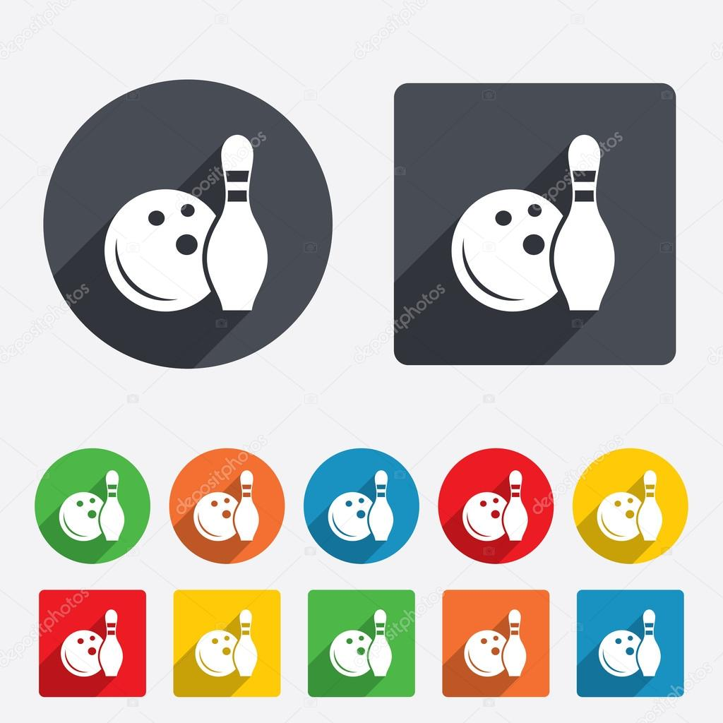 Bowling Game Sign Icon