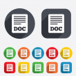 Stock Photo: File document icon. Download doc button.