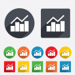 Graph chart sign icon. Diagram symbol. — Stock Photo