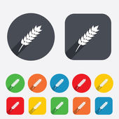 Gluten free sign icon. No gluten symbol. — Stock Photo