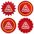 CO2 carbon dioxide formulsign icon. Chemistry — Stock Photo #41191141