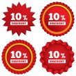 10 percent discount sign icon. Sale symbol. — Stock Photo