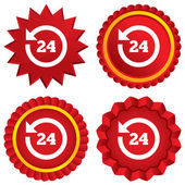 Servizio clienti 24 ore. supporto orologio. — Foto Stock