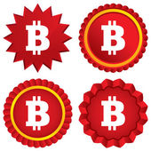 Bitcoin sign icon. Cryptography currency symbol — Stock Photo