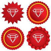 Diamant teken pictogram. sieraden symbool. gem steen. — Stockfoto