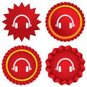 Headphones sign icon. Earphones button. — Stock Photo