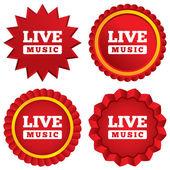 Ikona podepsat živá hudba. karaoke symbol. — Stock fotografie