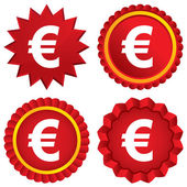 Euro sign icon. EUR currency symbol. — Stock Photo