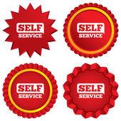 Self service sign icon. Maintenance button. — Stock Photo