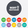 Best brother ever sign icon. Award symbol. — Stock Photo #41432017