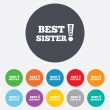 Best sister ever sign icon. Award symbol. — Stock Photo #41432279