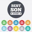Best son ever sign icon. Award symbol. — Stock Photo #41432317