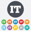 Stock Photo: Italilanguage sign icon. IT Italy translation
