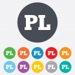Stock Photo: Polish language sign icon. PL translation